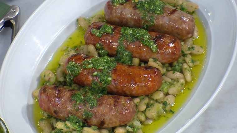 Scott Conant's bean, sausage and pesto on Megyn Kelly TODAY