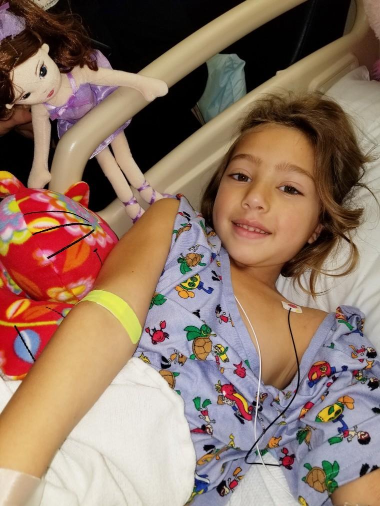 Emily Rose Oehler recovering from a rattlesnake bite