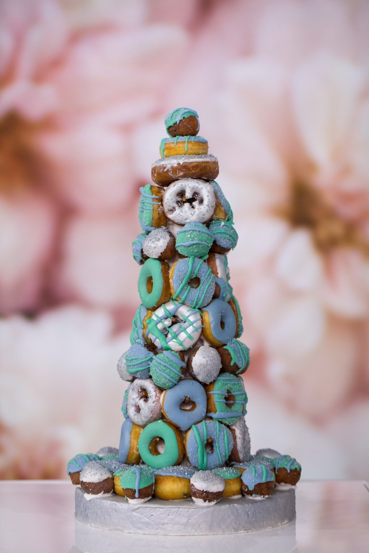 Wedding doughnut tower