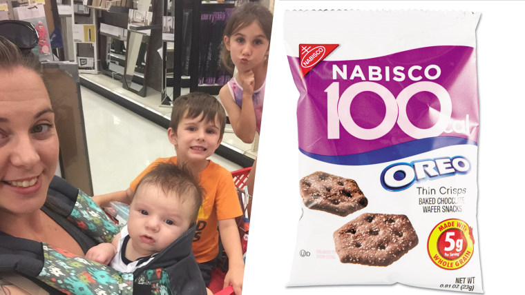 Florida mom Rachel Elsworth sent her daughter, Brigit, into school on the 100th day with a 100 calorie pack of Oreos.
