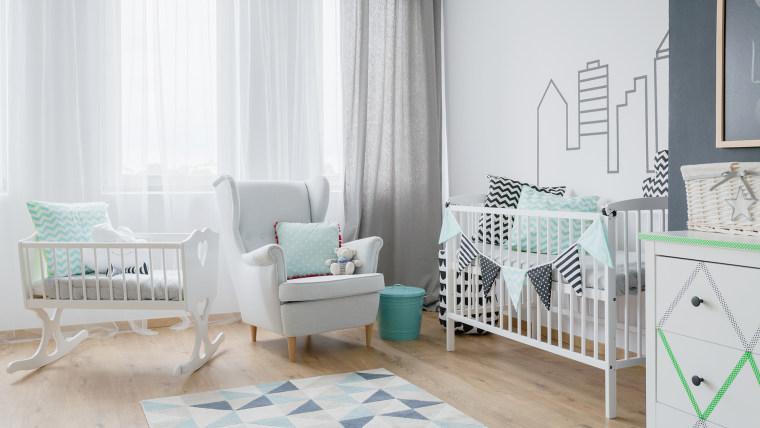 Gender-neutral nursery, baby's room