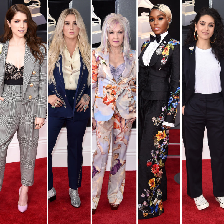 Anna Kendrick, Kesha, Cyndi Lauper, Janelle Monae and Alessia Cara all rocked menswear-inspired looks.