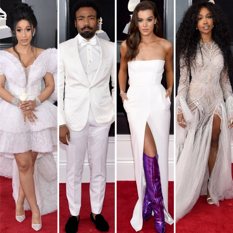 Cardi B, Childish Gambino (aka Donald Glover), Hailee Steinfeld and SZA graced the red carpet in white.