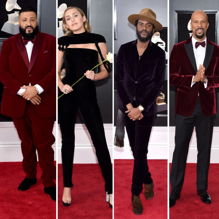 DJ Khaled, Miley Cyrus, Gary Clark Jr. and Common sported one of the biggest trends: velvet.