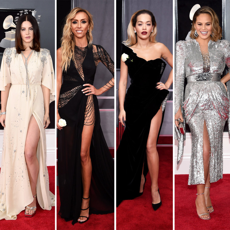 Lana Del Rey, Giuliana Rancic, Rita Ora and Chrissy Teigen weren't afraid to show a little leg on the red carpet.