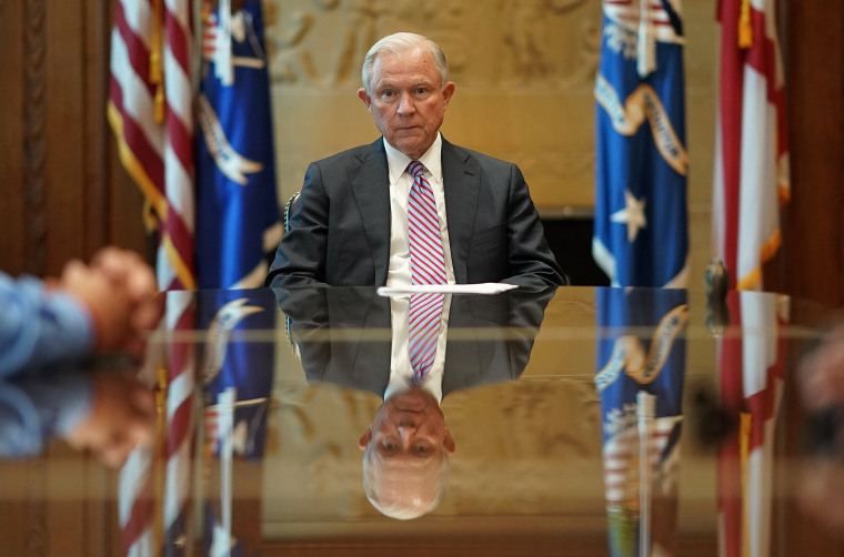 Image: Attorney General Jeff Sessions Meets With Families Of Victims Killed By Illegal Immigrants
