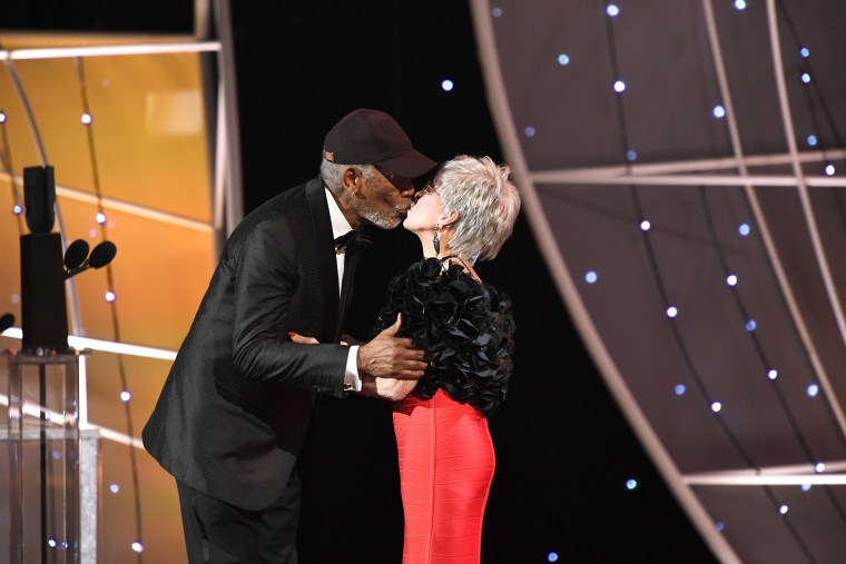 Image: Morgan Freeman and Rita Moreno