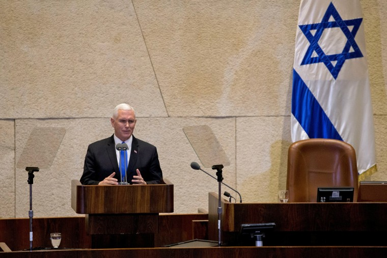 Image: Vice President Mike Pence addresses the Knesset
