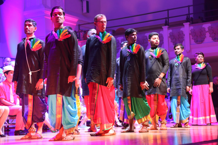 Rainbow Voices Mumbai performing in London in July 2017.