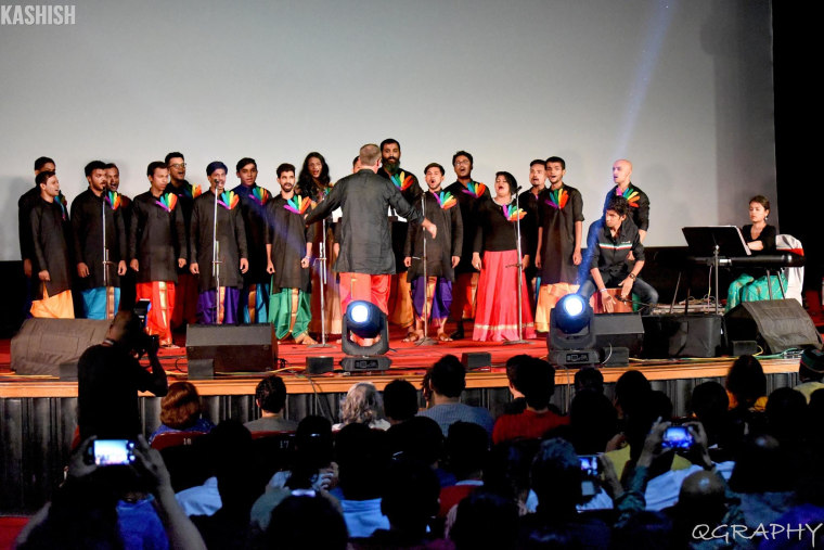 Rainbow Voices Mumbai performing at the Kashish Mumbai International Queer Film Festival.