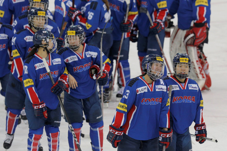 Image: South Korean women's ice hockey team