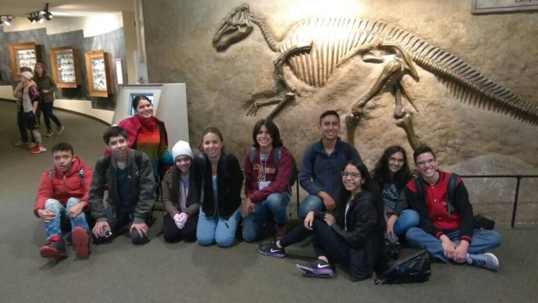 Venezuelan and Colombian youth in the Partners of the Americas cultural exchange program in Tennessee.