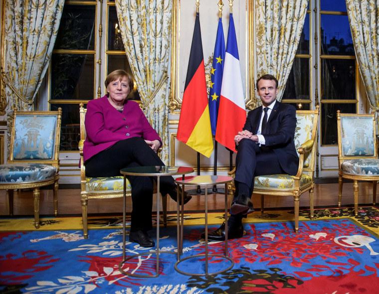 Image: Merkel and Macron