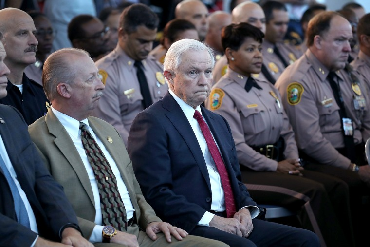 Image: Attorney General Jeff Sessions And ICE Director Homan Speak On Sanctuary Policies In Miami