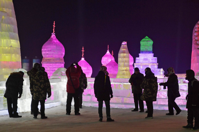 Image: CHINA-LEISURE-SNOW-ICE
