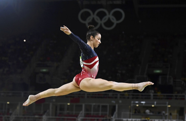 Image: Aly Raisman competes at the 2016 Summer Olympics
