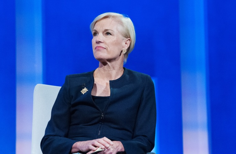 Image: Cecile Richards  participates in a panel discussion during the annual Clinton Global Initiative