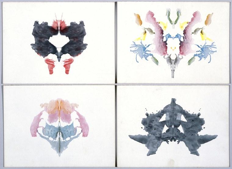 Image: Four Rorschach inkblot tests, 1921.