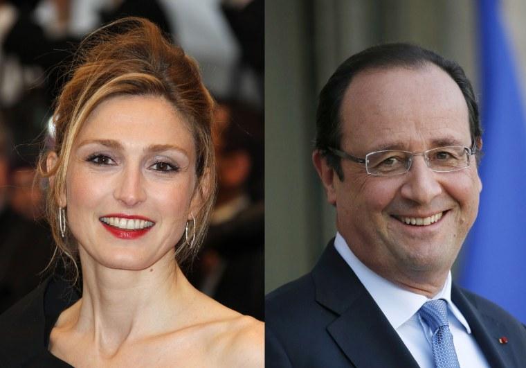Image: French actress Julie Gayet and President Francois Hollande