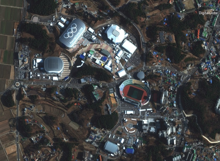 Image: Olympic venues from space