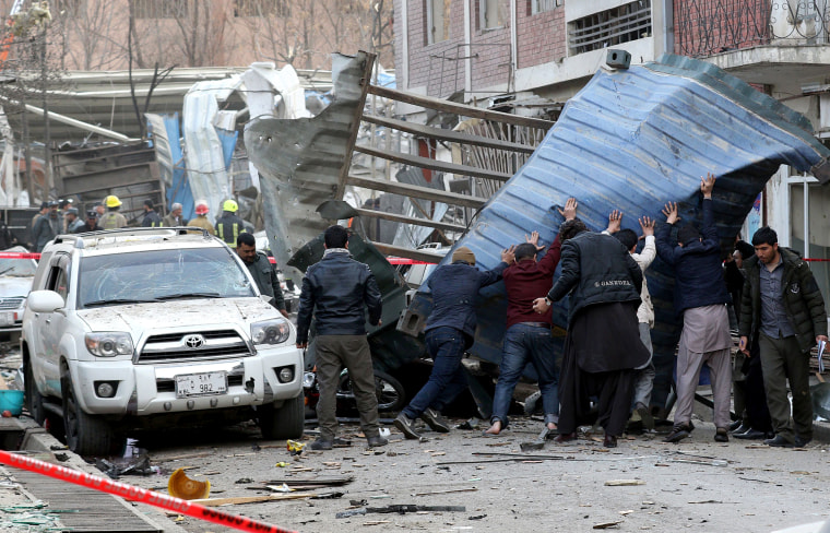 Image: Up to 95 killed in Kabul bombing