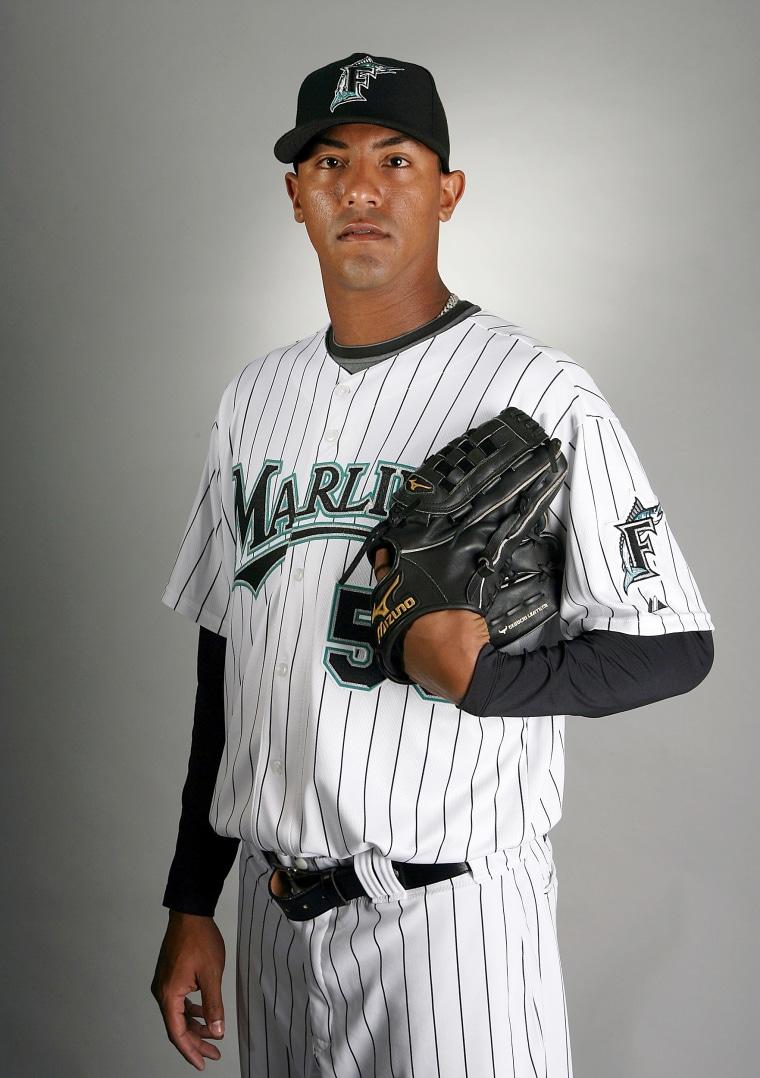 Image: Marcos Carvajal of the Florida Marlins