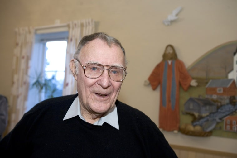 Image: Ingvar Kamprad, founder of Swedish multinational furniture retailer IKEA, in Agunnaryd, Sweden on Dec. 10, 2005.