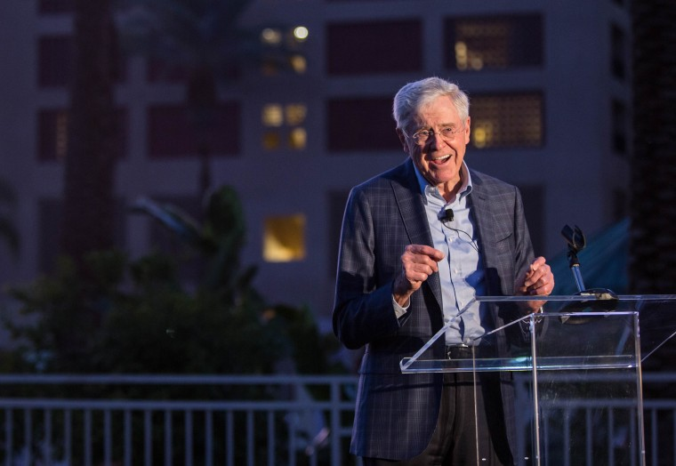 Image: Charles Koch speaks at the Seminar Network Winter Meeting 2018
