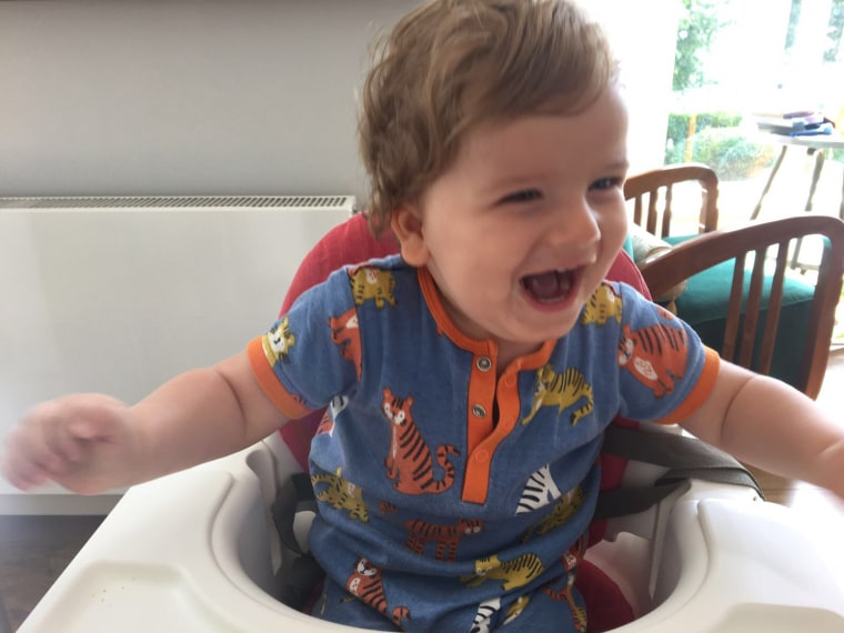 Richard Engel's son Henry, who has Rett syndrome.