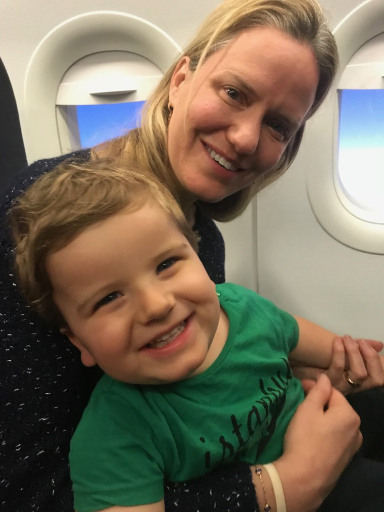 Richard Engel's wife Mary, with son Henry, who has Rett syndrome.