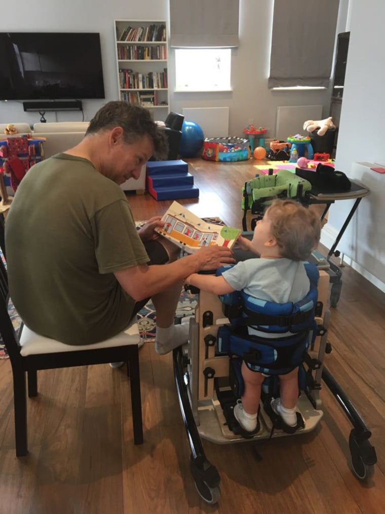 Richard Engel and son Henry, who has Rett syndrome.