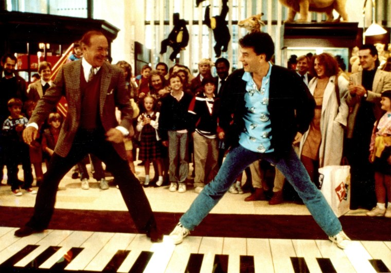 "Tom Hanks playing the foot piano in ""Big"""