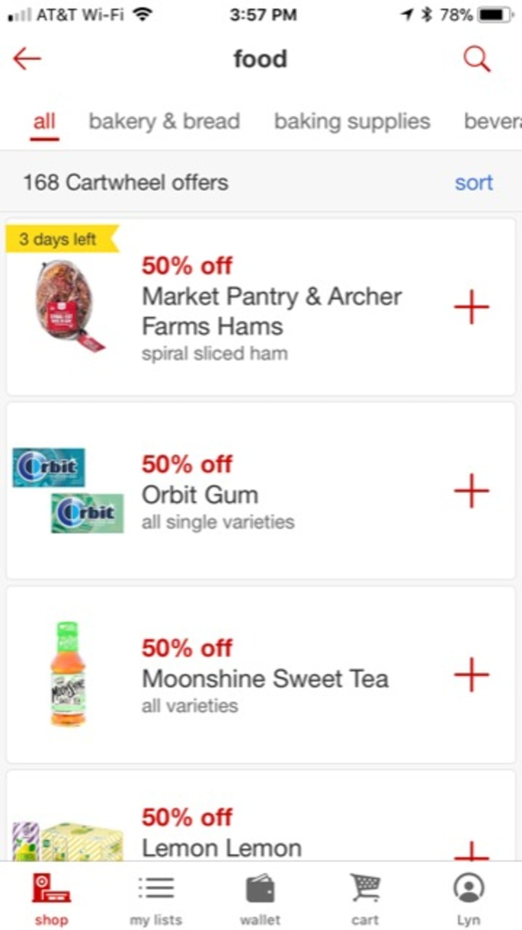 Target's app lets you scan items to save up to half off.