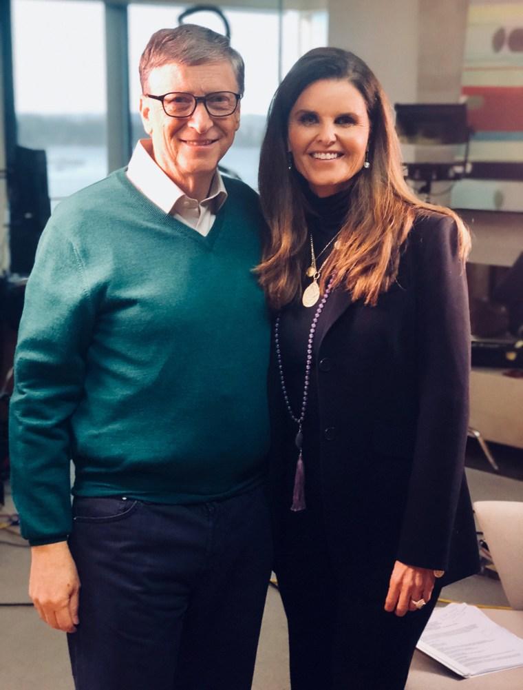 Maria Shriver and Bill Gates
