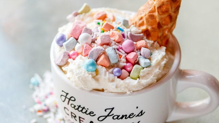 Unicorn White Hot Chocolate