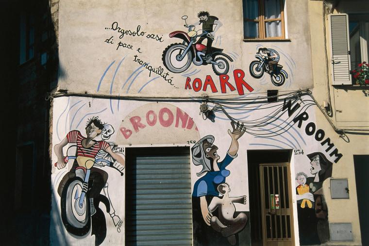 Sardinia - Barbagia Ollolai - Orgosolo (Nu). Murals.