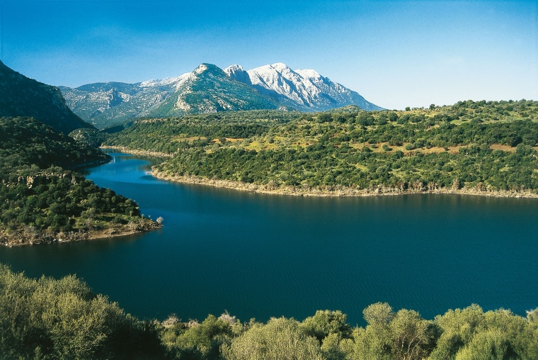 Sardinia from the reservoir of the river