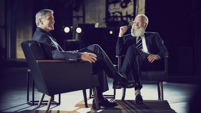 Clooney followed former president Barack Obama in the interview chair on Letterman's Netflix show.