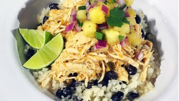Joy Bauer's Cauliflower Rice Bowls with Pineapple Avocado Salsa