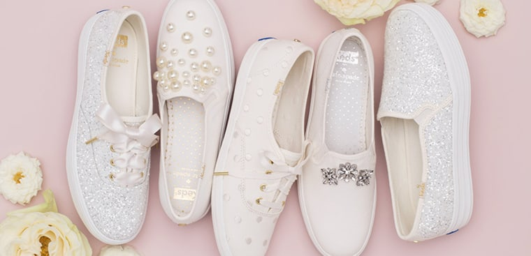Wedding sneaker collection from Keds and Kate Spade.