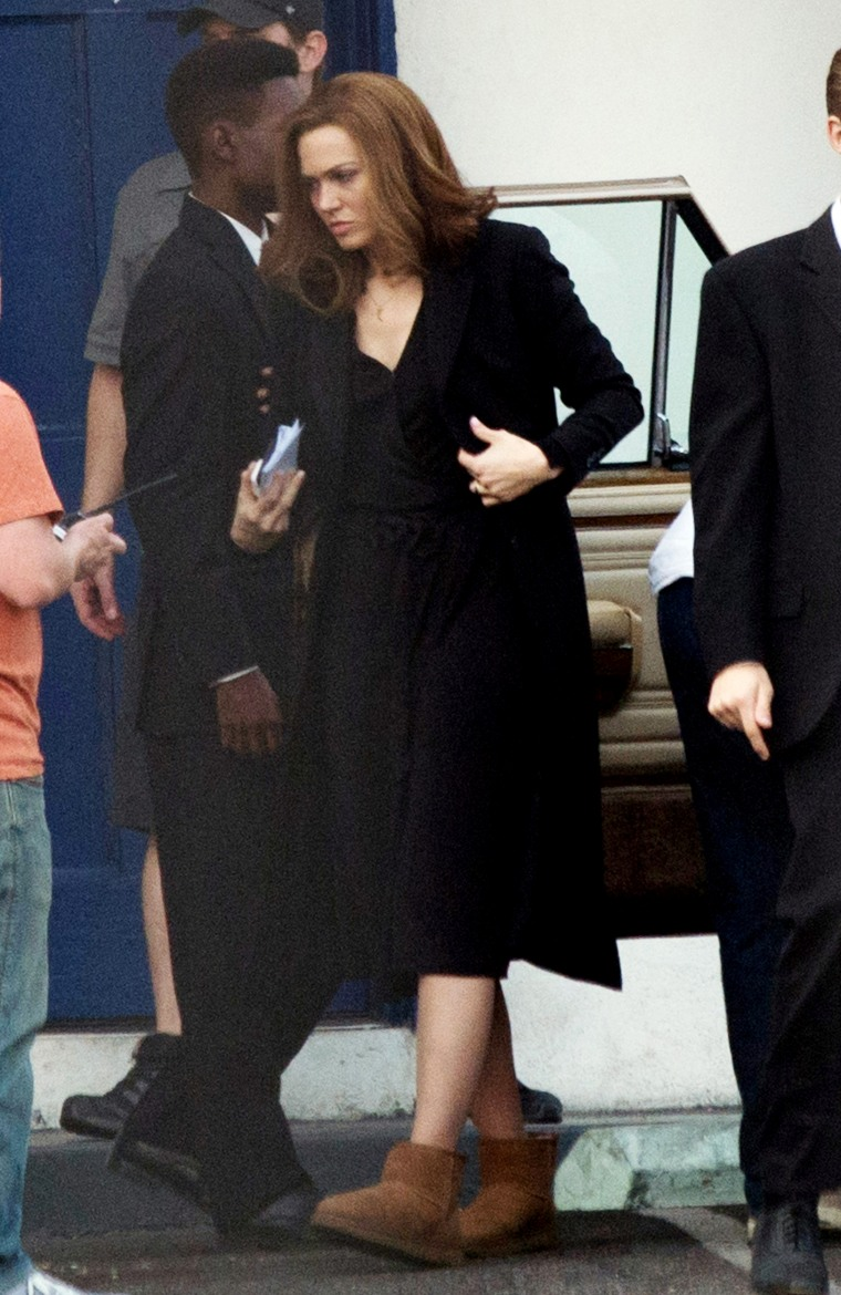 Mandy Moore on the Set of 'This is Us'