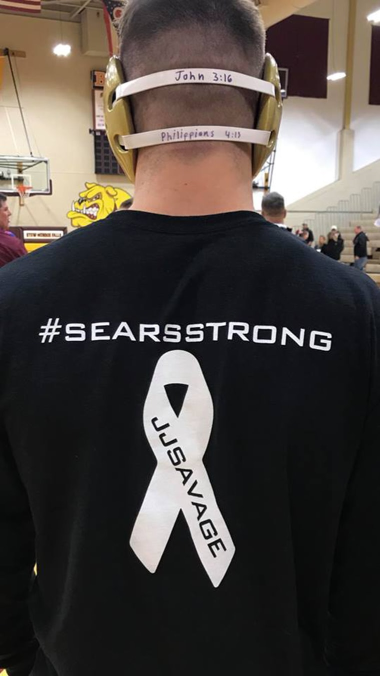 Since learning he has cancer, Justin Sears' teammates and friends have been holding fundraisers to help him.