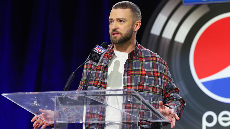 Justin Timberlake at a Super Bowl LII - Halftime Show Press Conference
