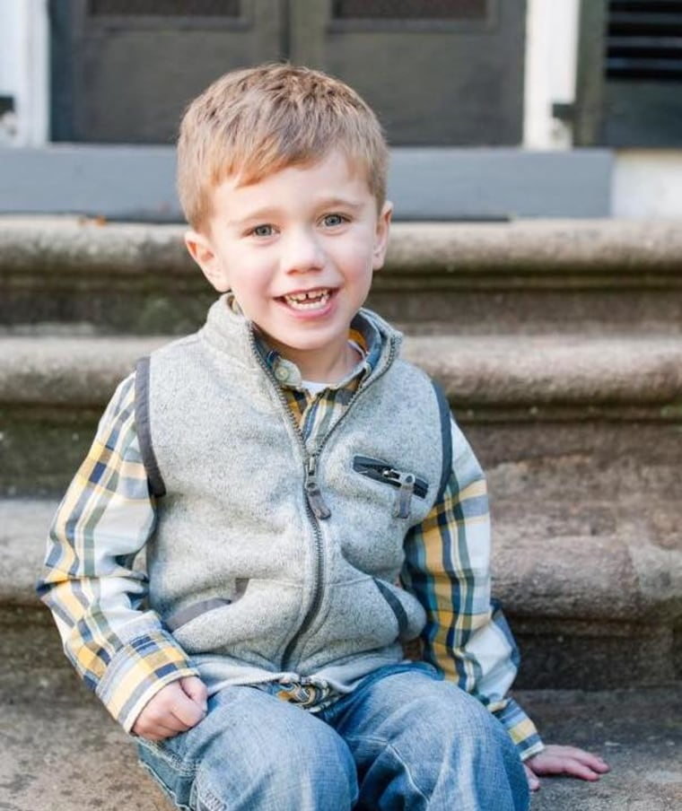 """""""My son, born with double outlet right ventricle, will be 5 this year,"""" wrote Kristine Thompson Slovis. """"Just because he has half a heart doesn't mean his life can't be whole."""""""