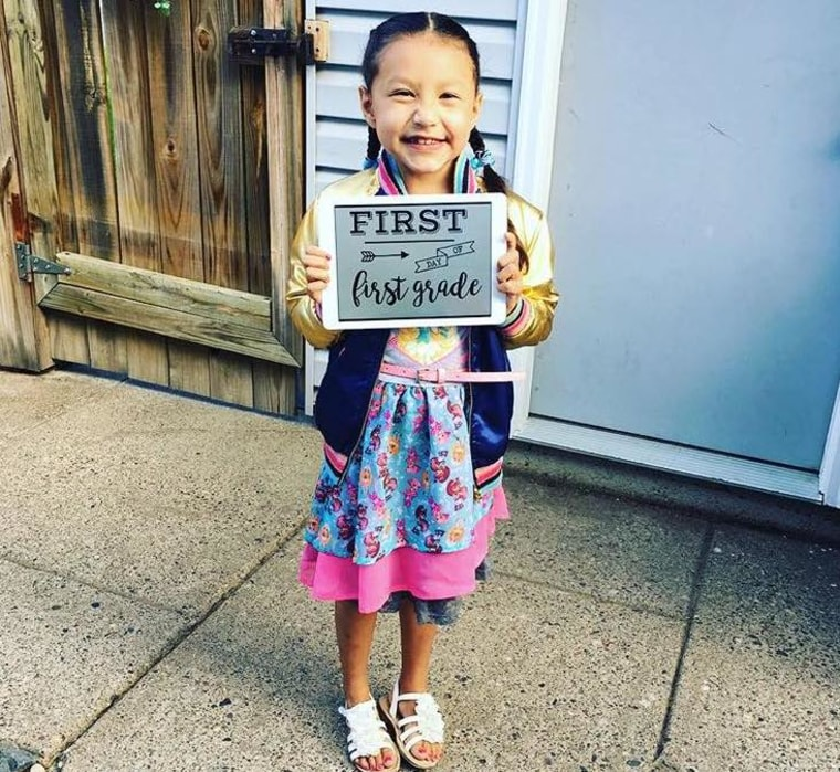 """""""My 7-year-old heart warrior is in first grade and lives a completely typical life,"""" shared Abby Toriz. """"She's had three open heart surgeries, two heart catheter procedures and takes daily aspirin. Have hope!"""""""