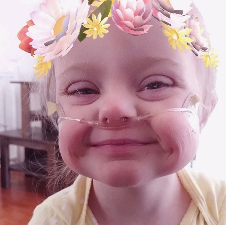 """""""Strongest girl I know. Two open heart surgeries, two pacemakers, and multiple sternal infections later, she will be 4 on February 20,"""" wrote Kimber Brittany Amborn. """"We were told to put her on hospice care before her first birthday...she started life at only 1 pound, 7 ounces and has never stopped fighting!"""""""