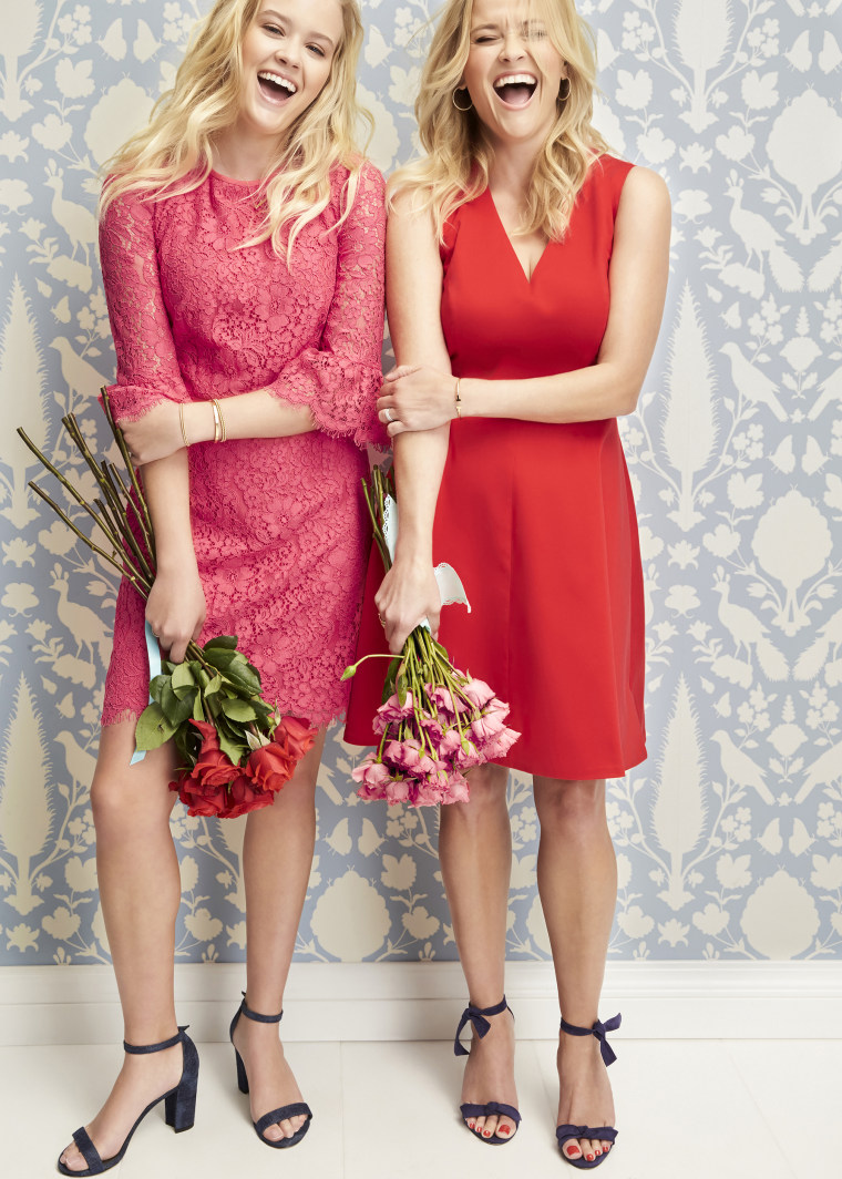 Reese Witherspoon and Ava Phillippe model for Draper James