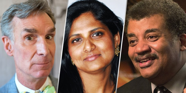 Image: Bill Nye, Priyamvada Natarajan and Neil deGrasse Tyson