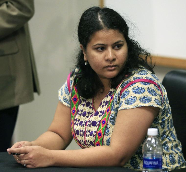 Image: Sunayana Dumala attends a news conference