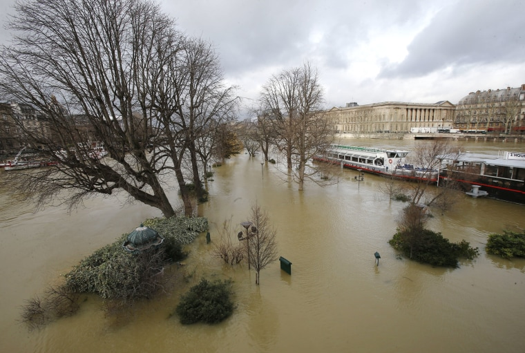 Image: The banks of river Seine are flooded in Paris